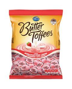 Bala Recheada Arcor Butter Toffe Morango Pacote 500g