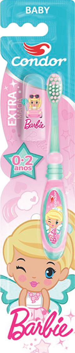 Escova De Dente Barbie Baby 0-2 Anos Condor Unidade Ref.3161-3