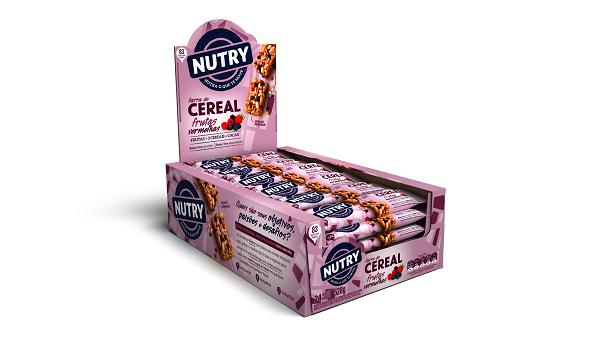 BARRA DE CEREAIS  NUTRY FRUTAS VERMELHAS DISPLAY 528G(24X22G)