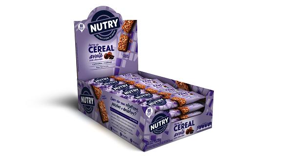 BARRA DE CEREAIS  NUTRY AVELÃ COM CHOCOLATE DISPLAY 528G(24X22G)