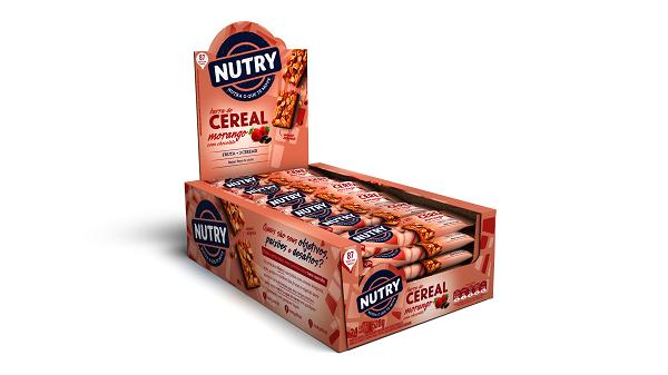 BARRA DE CEREAIS  NUTRY MORANGO COM CHOCOLATE DISPLAY 528G(24X22G)
