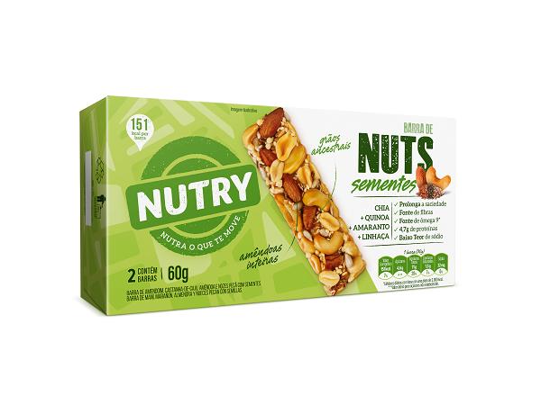 BARRA NUTS   NUTRY SEMENTES  60G (2X30G)