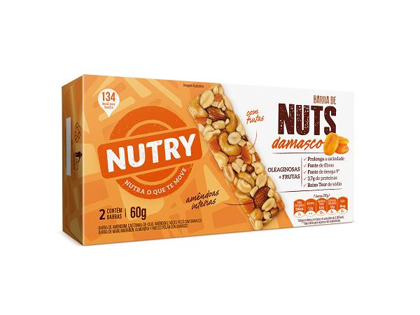 BARRA NUTS   NUTRY DAMASCO  60G (2X30G)