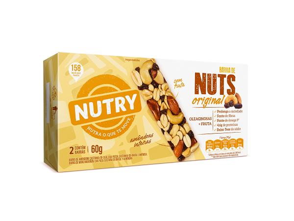 BARRA NUTS   NUTRY ORIGINAL  60G(2X30G)