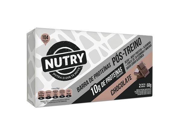 BARRA DE PROTEINA NPROTEIN NUTRY CHOCOLATE  60G(2X30G)