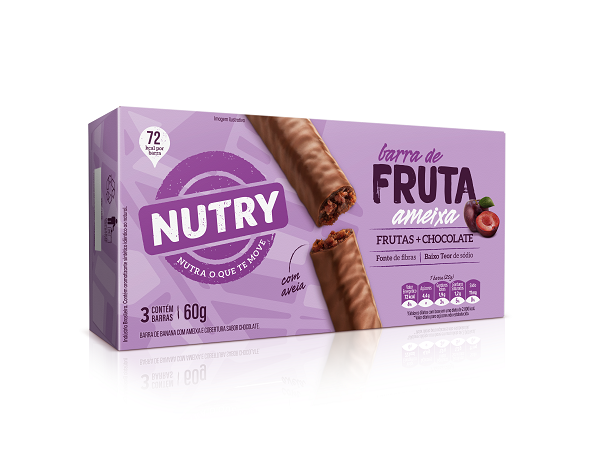 BARRAS DE FRUTA  NUTRY AMEIXA  60G(3X20G)