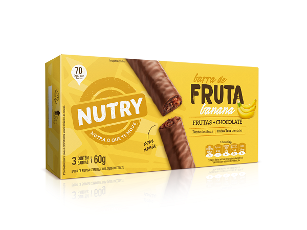 Barras De Fruta  Nutry Banana  60g(3x20g)