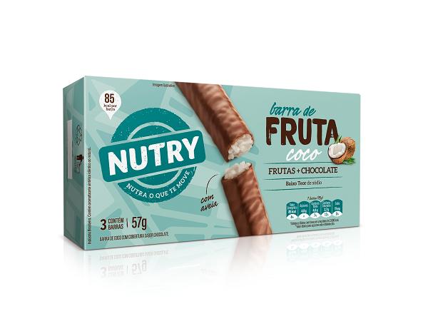 Barras De Fruta  Nutry Coco  57g(3x19g)
