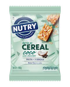 Barra De Cereais  Nutry Coco Com Chocolate  66g(3x22g)