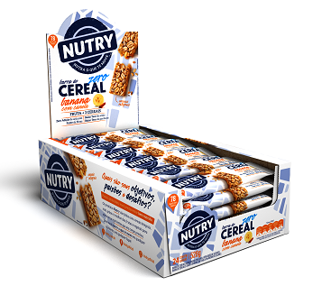 BARRA DE CEREAIS  NUTRY BANANA COM CANELA ZERO ÁÇUCAR DISPLAY 528G(24X22G)
